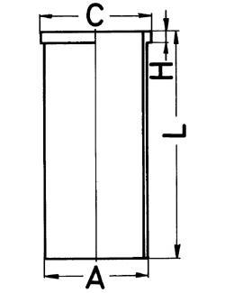 Гильза цилиндра Ford 2.3D, 2.5D/TD =94mm