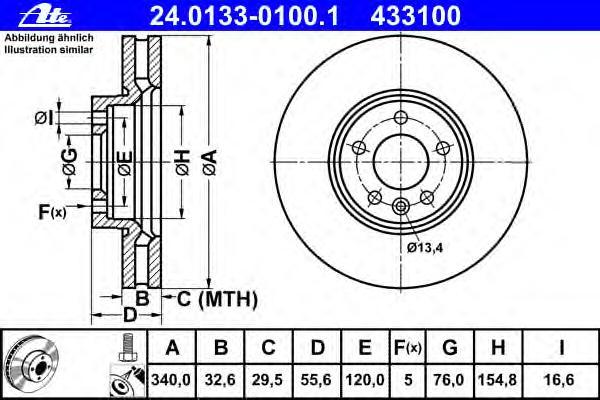 Диск тормозной VOLKSWAGEN TRANSPORTER (T5) BUS / MULTIVAN / KASTEN (03-)