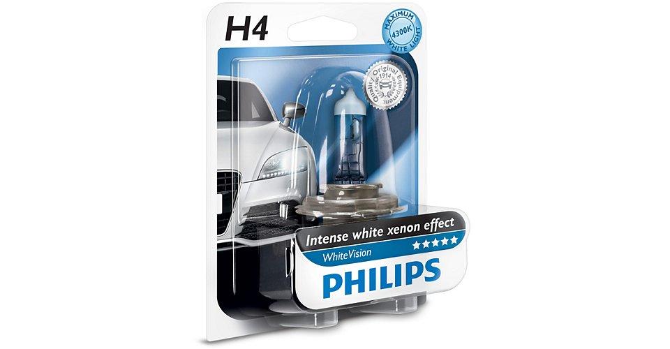 Лампа H4 (60/55W) P43t-38 White Vision 4300K +60% 12V 12342WHV B1 22103230