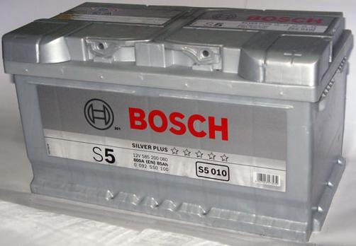 Аккумулятор BOSCH S5 SILVER PLUS 12V 85AH 800A ETN 0(R+) B13 315x175x175mm 19.02kg