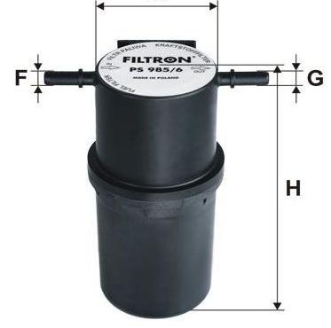 Фильтр топливный PS985/6