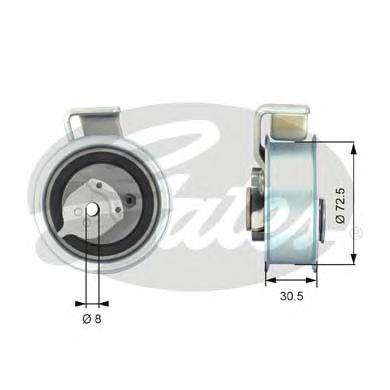 Ролик натяжителя GATES T43018 NTN Audi A4/A6/VW Passat 1.8/2.0 95-