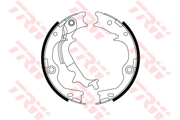 Колодки ручного тормоза TRW GS8817 ix35 2.0 4WD 190*38