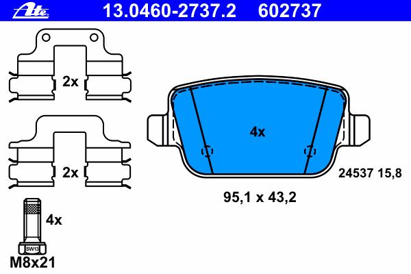 К-т тормозных колодок зад (мех/ручник) S80