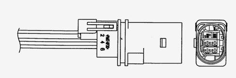97375 / UAA0004-VW004 Лямбда-зонд AUDI: A1 (8X1) = 1.2 TFSI= [10 - ] , A1 Sportback (8XA) = 1.2 TFSI= [11 - ] , A3 (8P1) = 1.2 TSI= [03 - 12] , A3 Sportback (8PA) = 1.2 TSI 04
