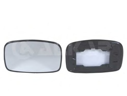 Стекло зеркала прав выпукл FORD: ESCORT (MK6)(1995-99), FIESTA (1994-02) / MAZDA: 121 (1996-99)