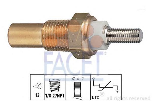 Датчик температуры охлаждающей жидкости FORD: CAPRI III (GECP) 1.3 78-87, CAPRI Mk III (GECP) 1.3 78-87, CORTINA 1300 62-72, CORTINA '80 (GBS, GBNS) 1.6 79-82, CORTINA Estate '80 универ
