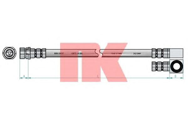 Шланг тормозной задний / FORD Mondeo-II Kombi (для дисковых тормозов) 05/97-11/00