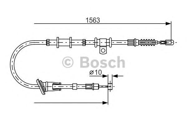 Трос ручного тормоза BOSCH 1987482064 Space Star 98-04 L