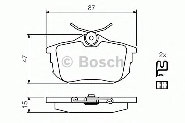Колодки тормозные MITSUBISHI COLT 04>/SMART FORFOUR 05>/VOLVO S40/V40 задние