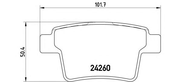 Колодки тормозные FORD MONDEO III 09.04-/JAGUAR X-TYPE задние
