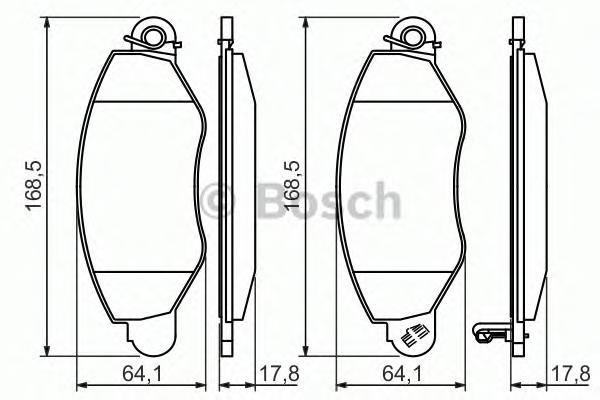 Колодка тормозная FORD TRANSIT дисковая передняя Bosch