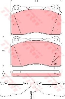 Колодки передние MITSUBISHI LANCER (CS, CJ) EVO 2,0, OPEL ASTRA J, INSIGNIA GDB3349