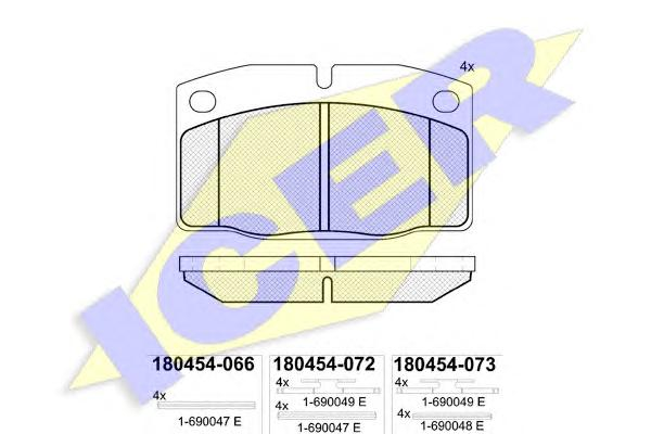 Колодки тормозные ICER 180454 OPEL/DAEWOO =GDB199