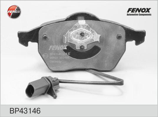 Колодки тормозные FENOX BP43146 AUDI A6 Quattro пер. 2 датчика