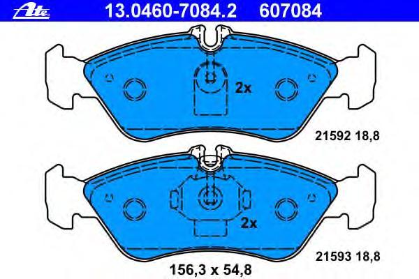 Колодки тормозные дисковые задн, MERCEDES-BENZ: SPRINTER 2-t c бортовой платформой 208 CDI/208 D/210 D/211 CDI/213 CDI/214/214 NGT/216 CDI 95-06, SPRINTER 2-t автобус 208 CDI/
