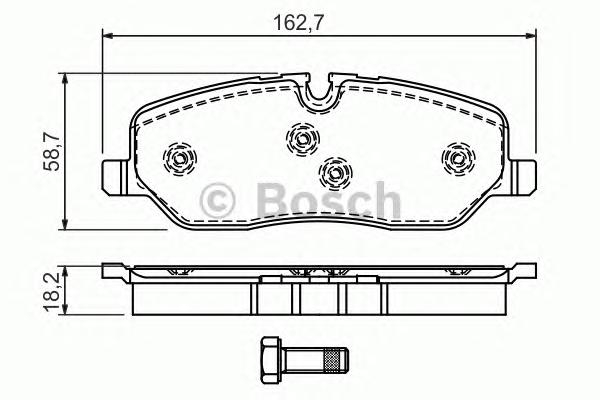 Колодки тормозные LAND ROVER DISCOVERY III 04>/RANGE ROVER 02> передние