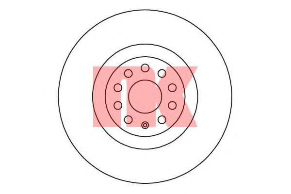 Диск тормозной передний / VW Passat 11~, Passat CC 09~