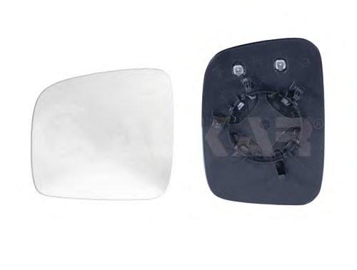 Стекло зеркала прав с подогр, выпукл VW: CADDY - (2004-2010) , TRANSPORTER T5 - (2003-09)
