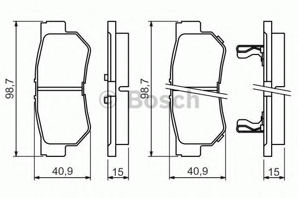 Колодки тормозные HYUNDAI GETZ/MATRIX/SANTA FE/SONATA/TUCSON/KIA SPORTAGE задние