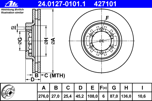 Диск тормозной передн, MITSUBISHI: PAJERO II 3.5 V6 24V/3.5 V6 24V 90-99
