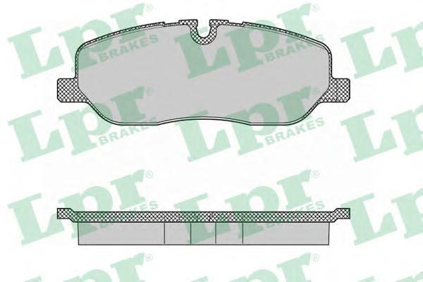 Колодки тормозные LPR 05P1360 Discovery/RANGE ROVER Sport 04- пер