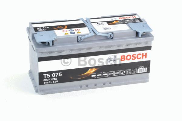 Аккумуляторная батарея 105Ah BOSCH S5 AGM 12V 105AH 950A ETN 0(R+) B13 394x175x190mm 29.4kg