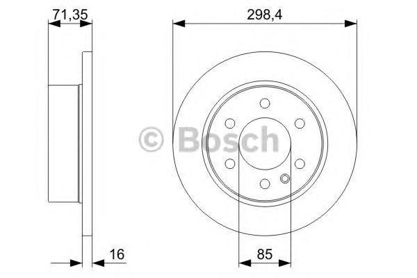 Диск тормозной MERCEDES SPRINTER/VW CRAFTER 06- задний D=298мм