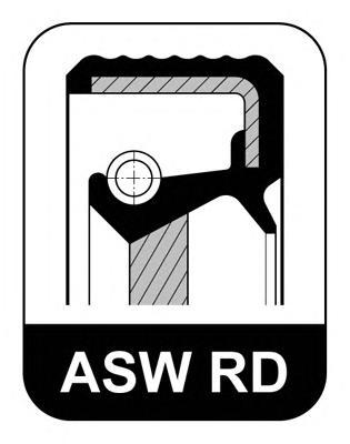 Сальник 26x42x8/6 ASW RD FPAC OPEL: 1.2-1.6 коленвала пер