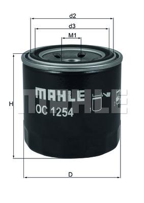 Фильтр масляный OC1254