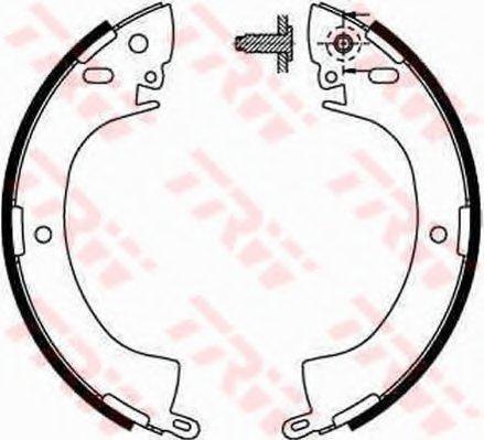 Колодки тормозные барабанные задн MITSUBISHI: L200 ALL 86-96