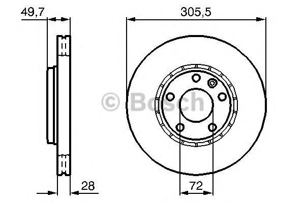 Диск тормозной NISSAN PRIMASTAR 01-/OPEL VIVARO 01-/RENAULT TRAFIC 01- передний