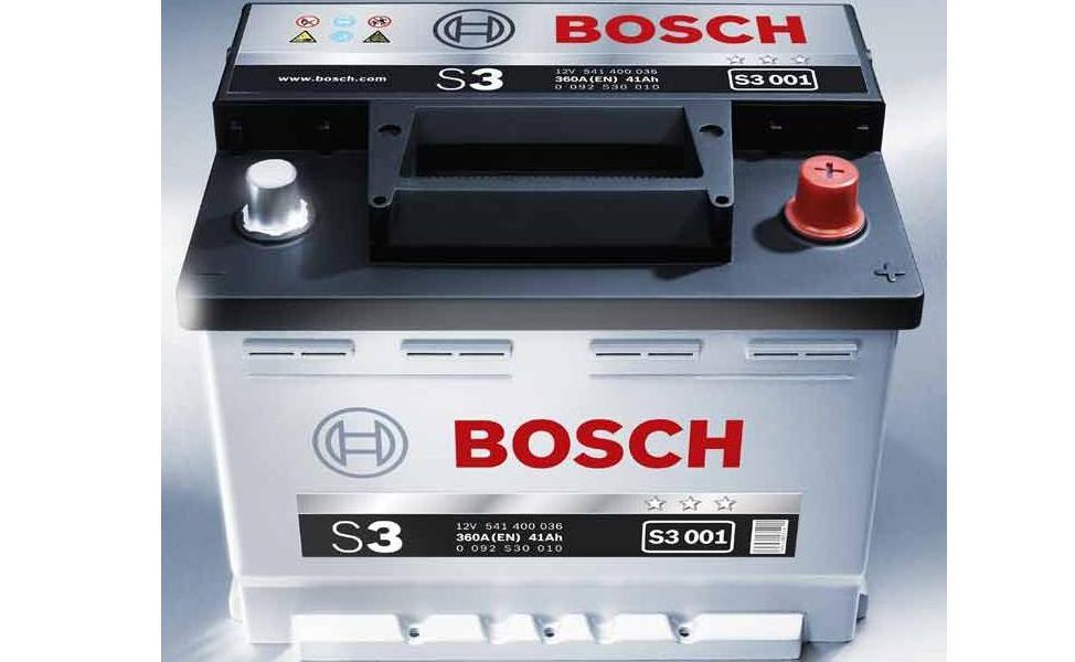 Аккумулятор BOSCH S3 12V 41AH 360A ETN 0(R+) B13 207x175x175mm 10.68kg