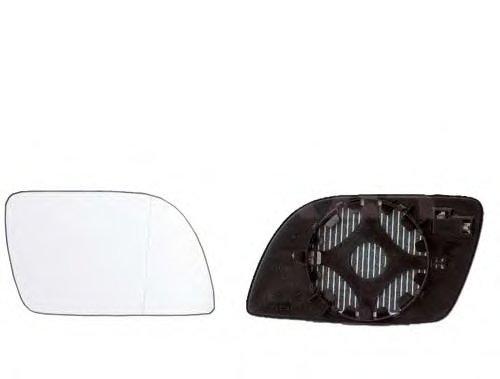 Стекло зеркала лев с подогр, асферич VW: POLO IV - 01-05