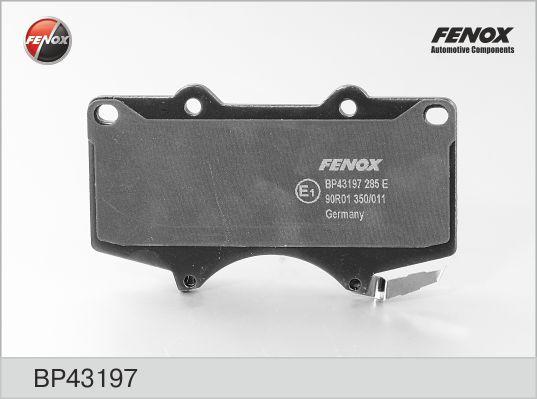 Колодки тормозные FENOX BP43197 T.L.Cruiser 98>пер. =GDB3197