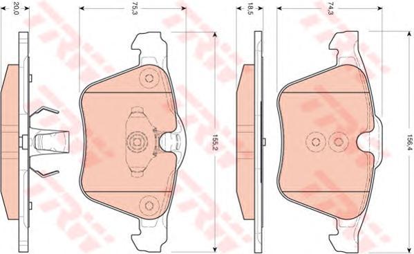 Колодки передние FORD S-MAX, GALAXY, VOLVO S60 II, S80 II, XC 70II GDB1684