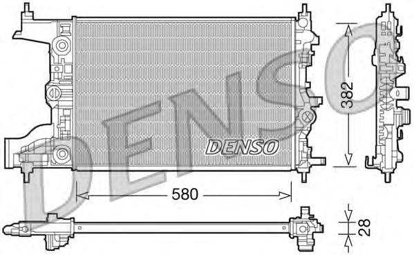 Радиатор охл. ДВС OP Astra J 1.6 09-