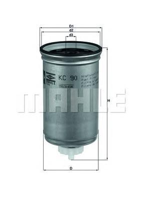 Фильтр топливный FORD Transit 2.5D/TDi 84-09/97