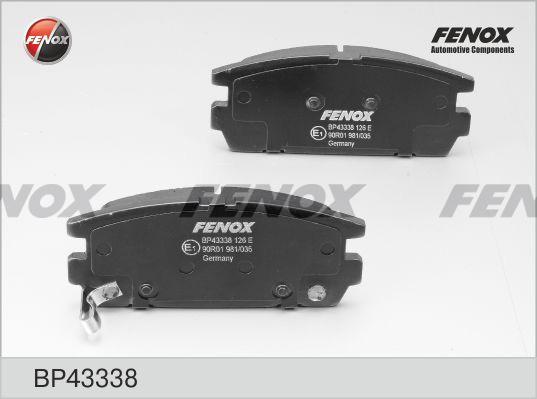 Колодки задние Hyundai Terracan HP 2,5TD,2,9CRDi 01- BP43338