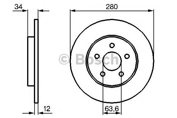 Тормозной диск 0986479068