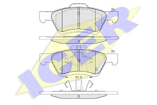 Колодки тормозные ICER 182030 Maverik 04-07 пер