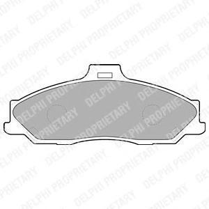 Колодки тормозные FR Ran 06-11 Delphi