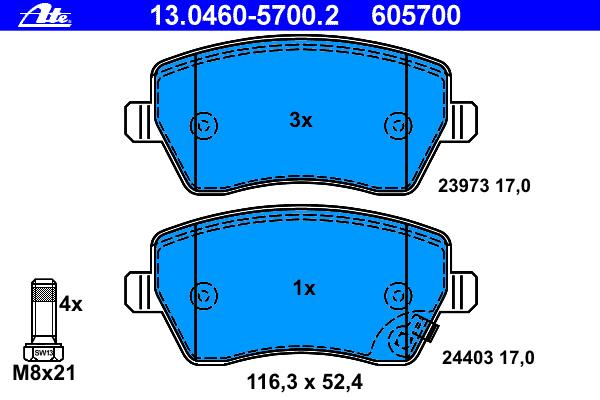 Колодки торм.пер. Opel Agila, Suzuki Swift III