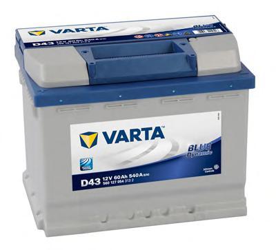 Аккумулятор VARTA 5601270543132 12V 60А/ч 540А (+/-) (242*175*190)