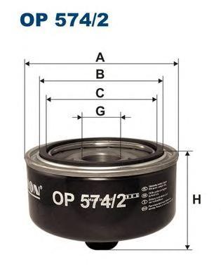 Фильтр масляный FILTRON OP5742 VW LT28 2.8TDI 98-
