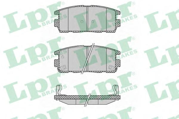 Колодки тормозные LPR 05P1323 OPEL ANTARA /CHEVROLET CAPTIVA 06- зад