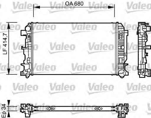 Радиатор системы охлаждения VW: CRAFTER 30-35 автобус (2E) 2.5 TDI 06-, CRAFTER 30-50 c бортовой платформой/ходовая часть (2E) 2.5 TDI 06-, CRAFTER 30-50 фургон (2E) 2.5 TDI