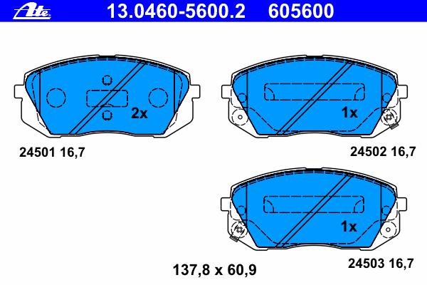 Колодки тормозные дисковые передн, HYUNDAI: ix35 1.6/1.7 CRDi/2.0/2.0 4WD/2.0 CRDi/2.0 CRDi 4WD 09- \ KIA: CARENS III 1.6 CRDi 110/1.6 CRDi 128/1.6 CVVT/2.0 CRDi 115/2.0 CRDi