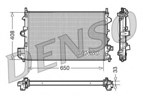 Радиатор системы охлаждения OPEL: SIGNUM 1.9 CDTI 03 - , VECTRA C 1.9 CDTI 02 - , VECTRA C GTS 1.9 C
