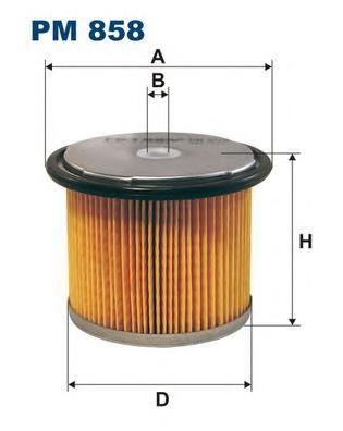 Фильтр топливный FILTRON PM858 CITROEN Berlingo 1.8/1.9/D 07/96->/Jumpy 1.9/D/TD 10/95->/Xantia 1.9/D/TD 0
